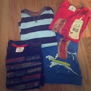 4 hanna Andersson t-shirts size 5/110